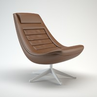 3ds max alias pio manzu leather chair