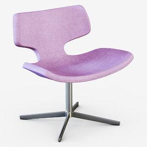 armchair bone 3d max