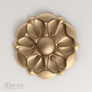 decorative rosettes 3d max