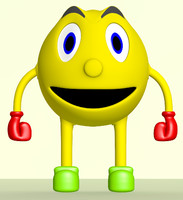 3d smiley face character model