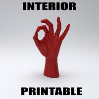 hand ok printable print 3d model