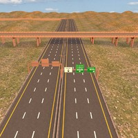 3d highway road motorway model