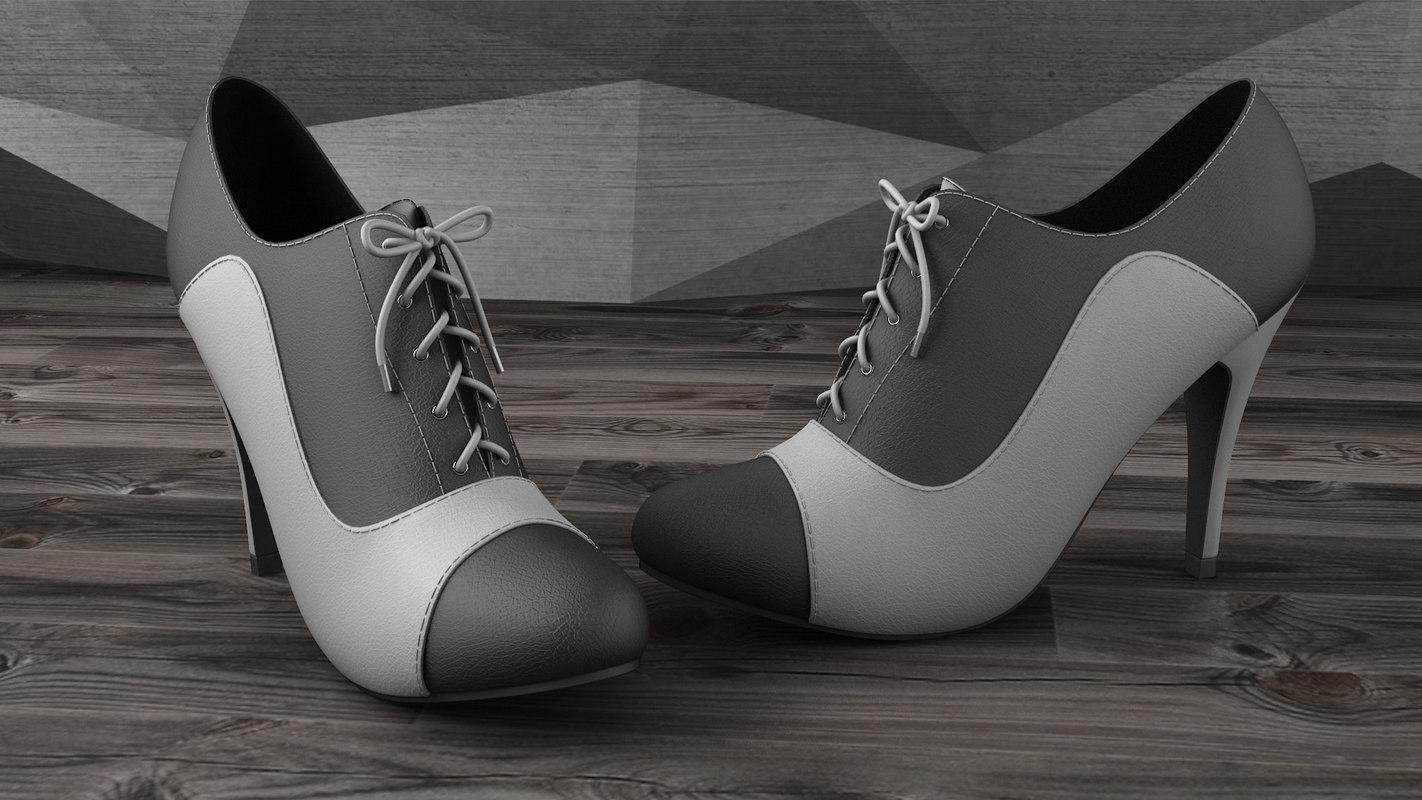 max heels black white
