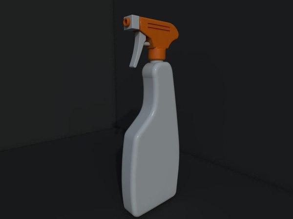 3d bottle spray model