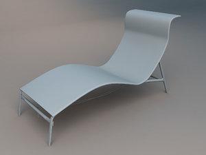 3dsmax poolside chair