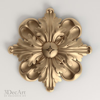 carved rosettes obj