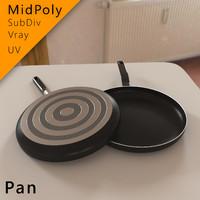 3d frying pan