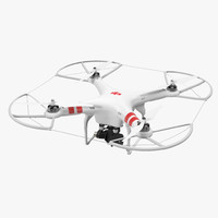 3d dji phantom 2 zenmuse model