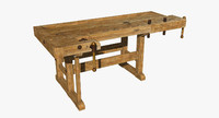 3d old workbench model