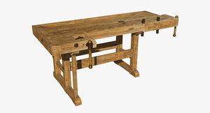 3d old workbench model