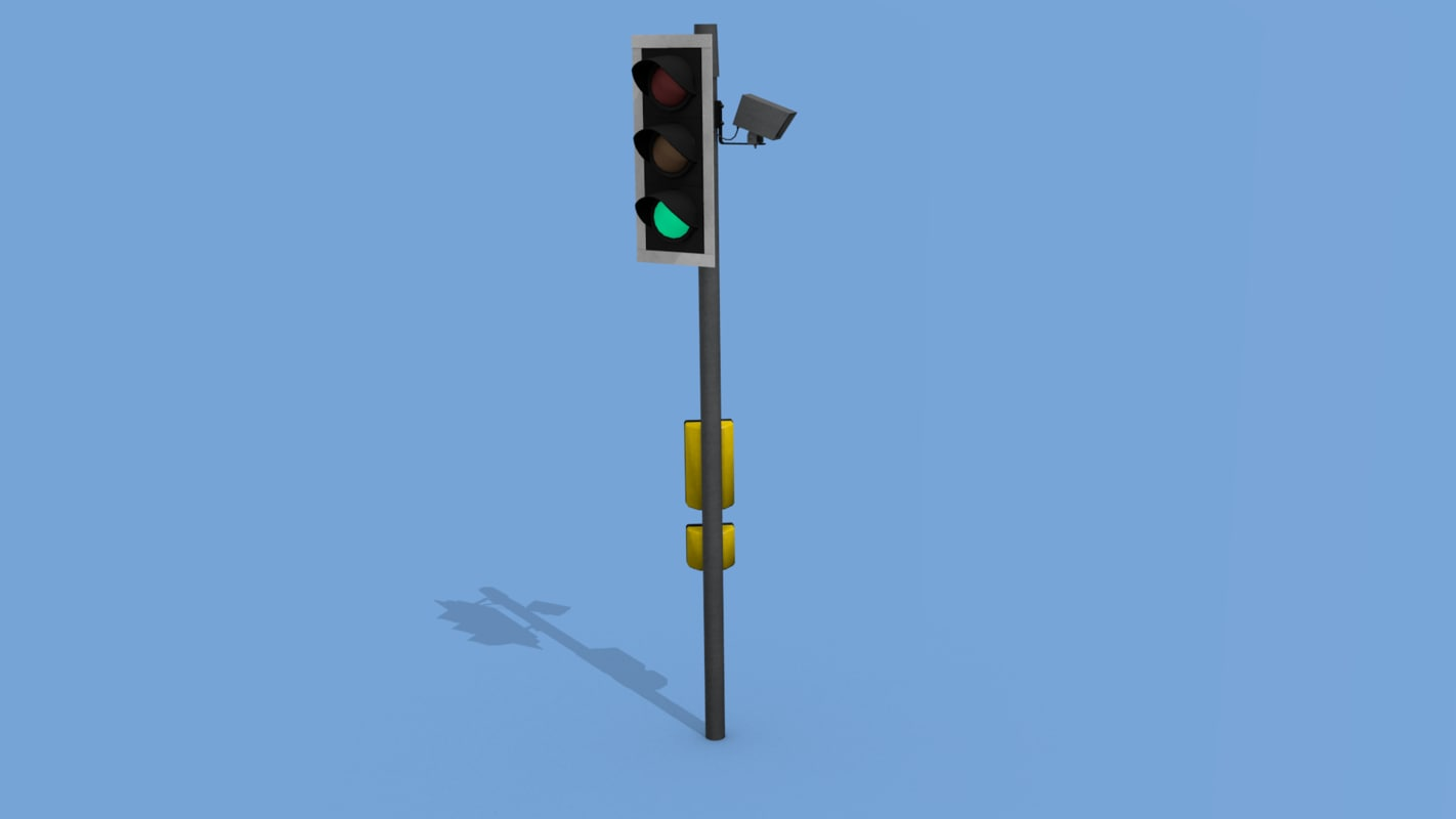 uk traffic light 3d obj