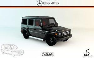 3d mercedes-benz g55 amg model