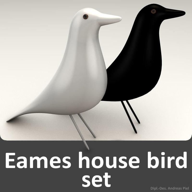 model set eames house bird