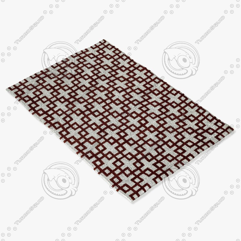 3d model loloi rugs ct-04 ivory