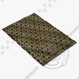 loloi rugs ep-03 brown 3d model