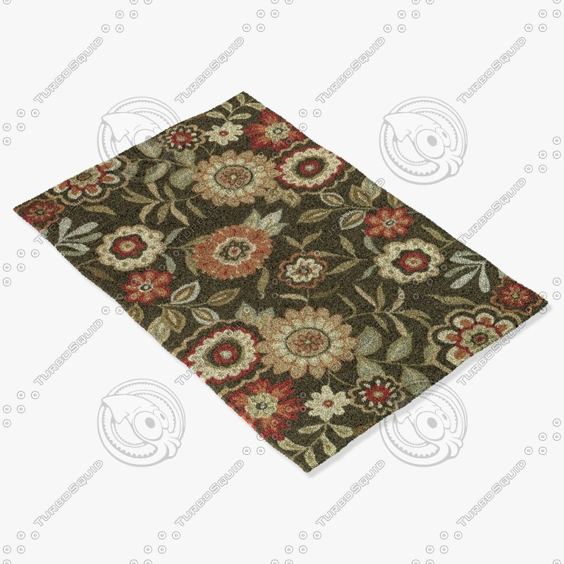 loloi rugs fc-02 brown 3d model