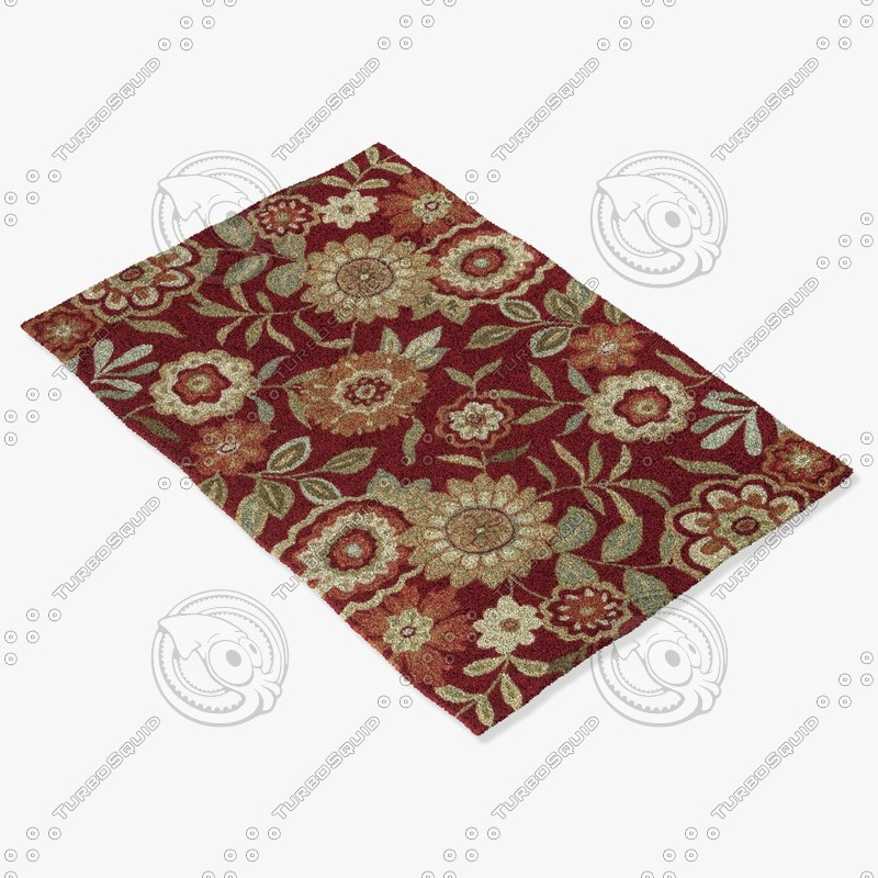 3d loloi rugs fc-02 red