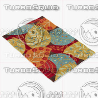 3d model loloi rugs fc-14 brown