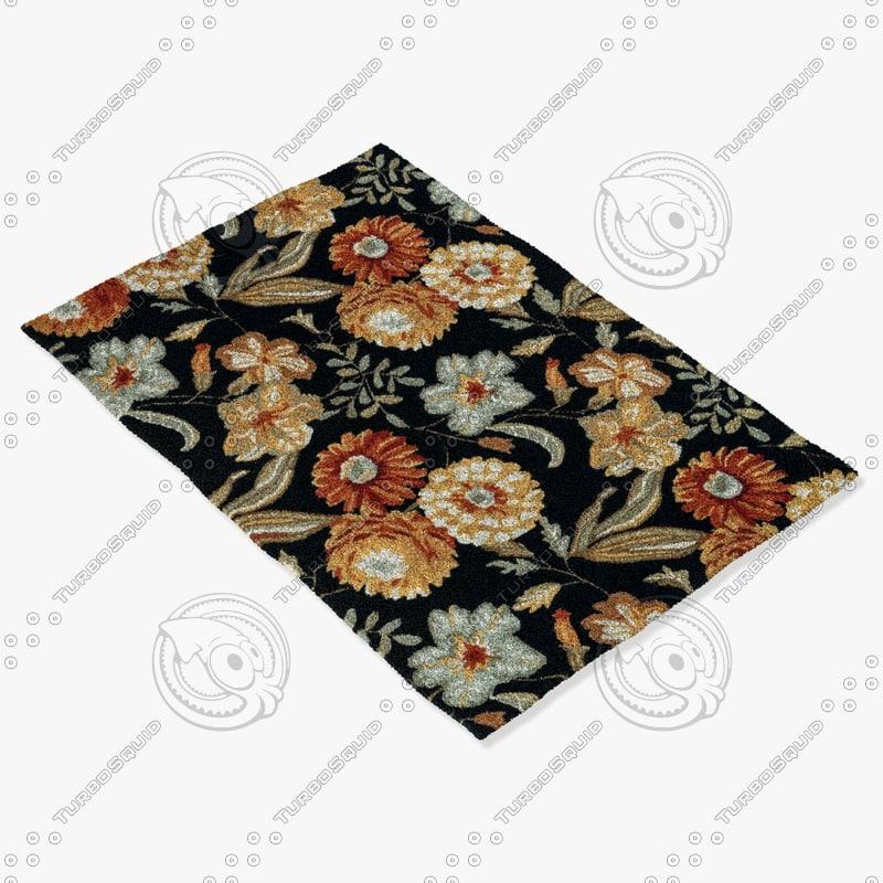 loloi rugs fc-17 black 3d model