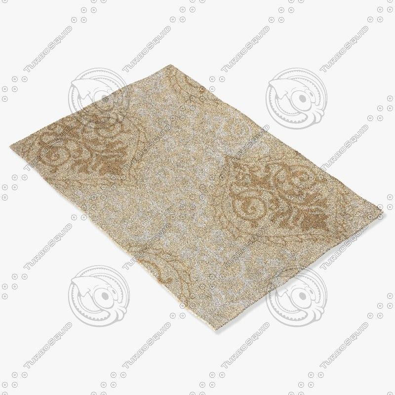 loloi rugs fc-20 sand 3d model