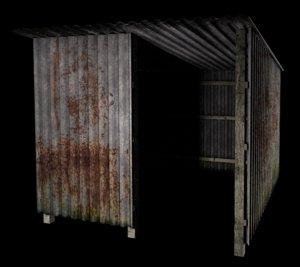 shack metal 3d fbx