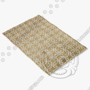 3d loloi rugs fc-28 beige model