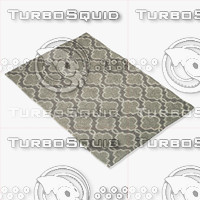 3d model loloi rugs fc-29 grey