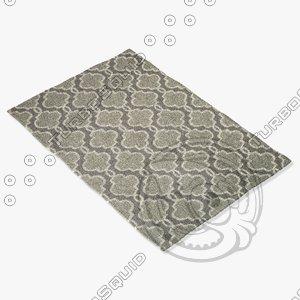 3d model loloi rugs fc-29 grey