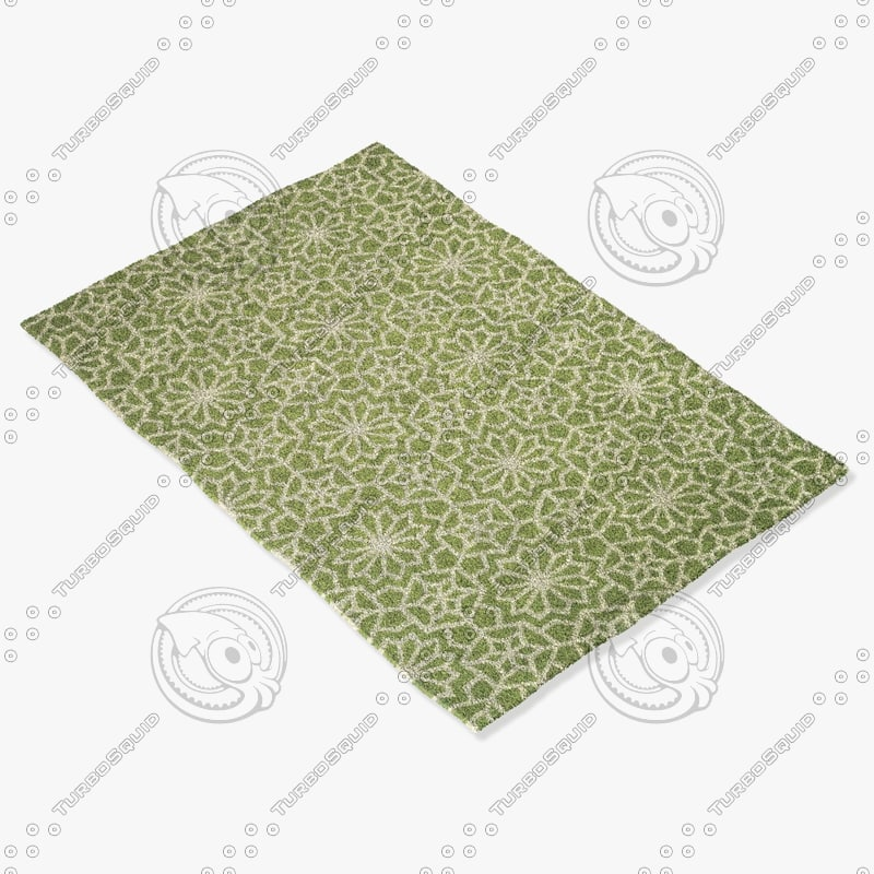 3d model loloi rugs fc-30 green