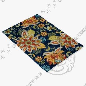 loloi rugs fc-34 blue 3d model
