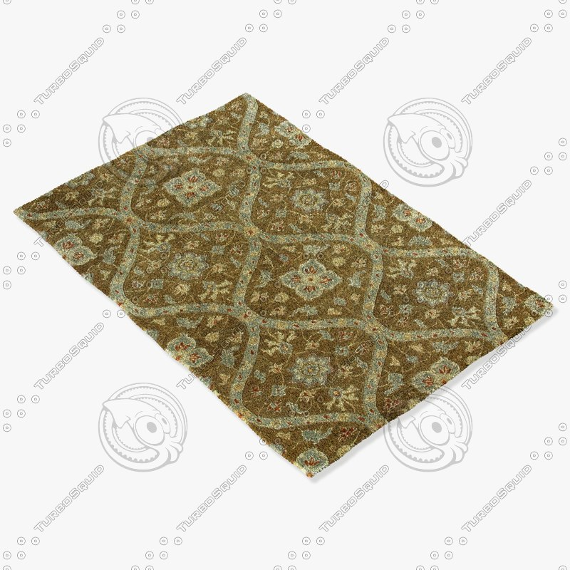3d model loloi rugs ft-02 mocha