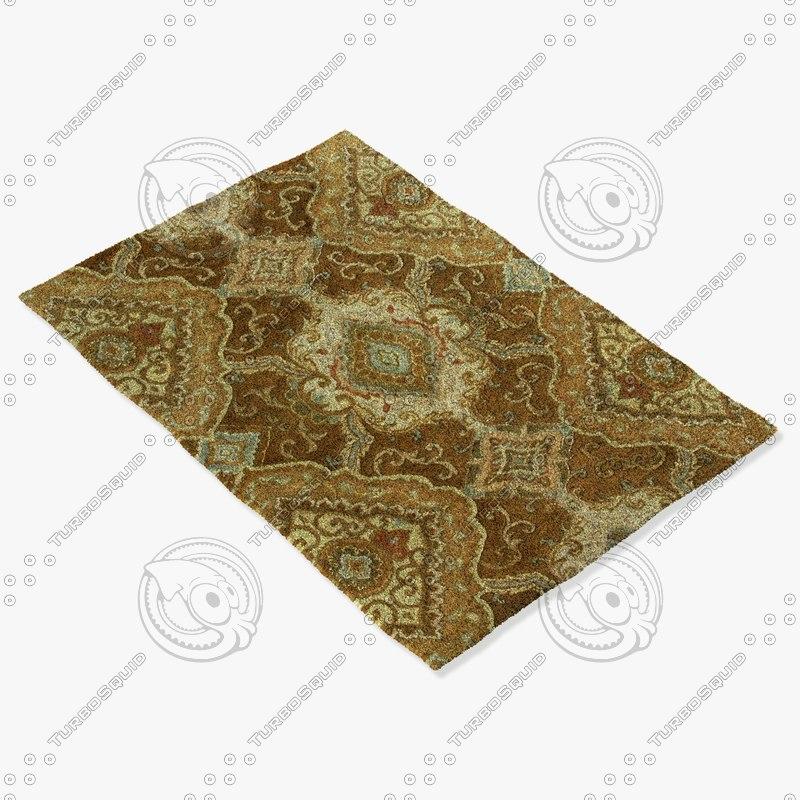loloi rugs ft-04 lt 3d model