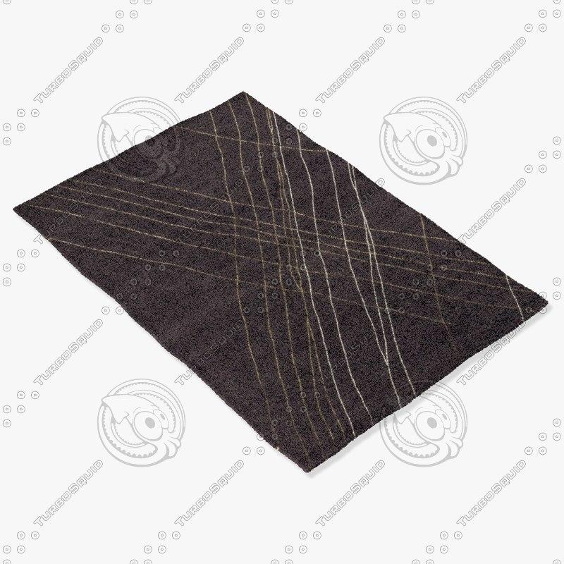 loloi rugs he-10 plum 3d model