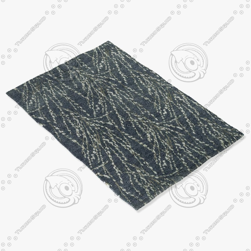loloi rugs he-15 midnight 3d model