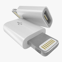 3d model lightning usb adapter