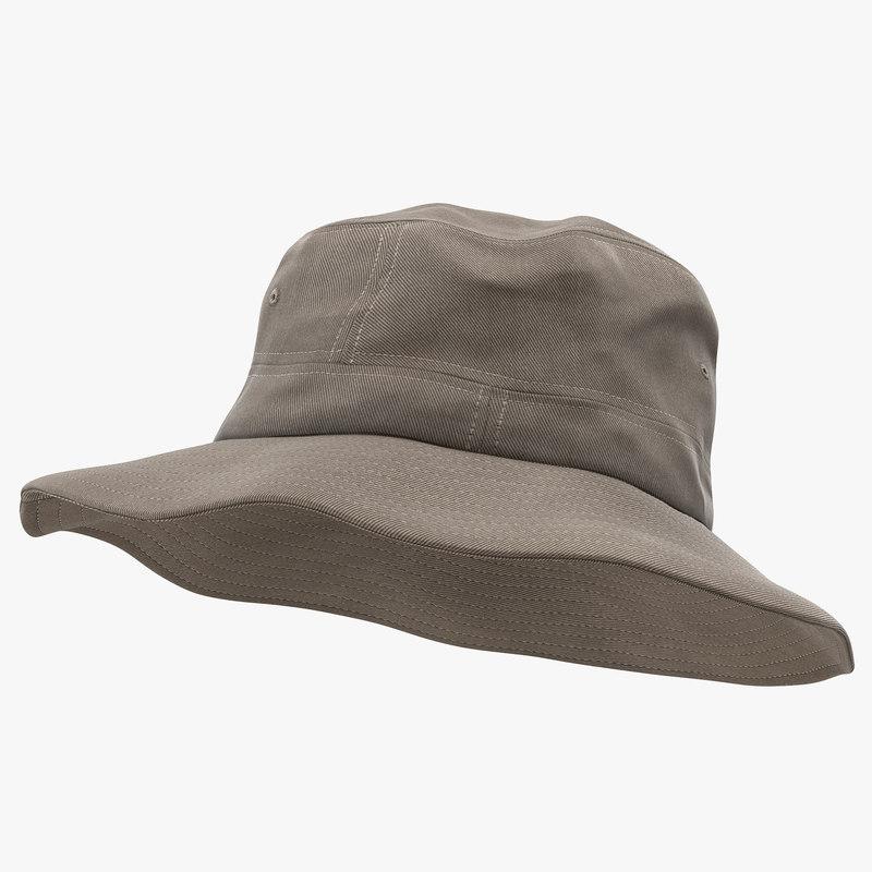 fishing hat 3d max