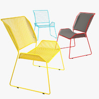 3d metal chairs