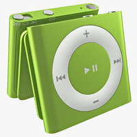 ipod shuffle green modeled 3d 3ds
