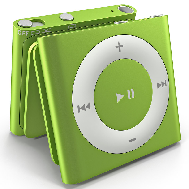 ipod shuffle green modeled 3d 3ds