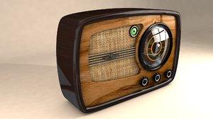 3ds max post-war radio