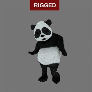 3d rigged panda