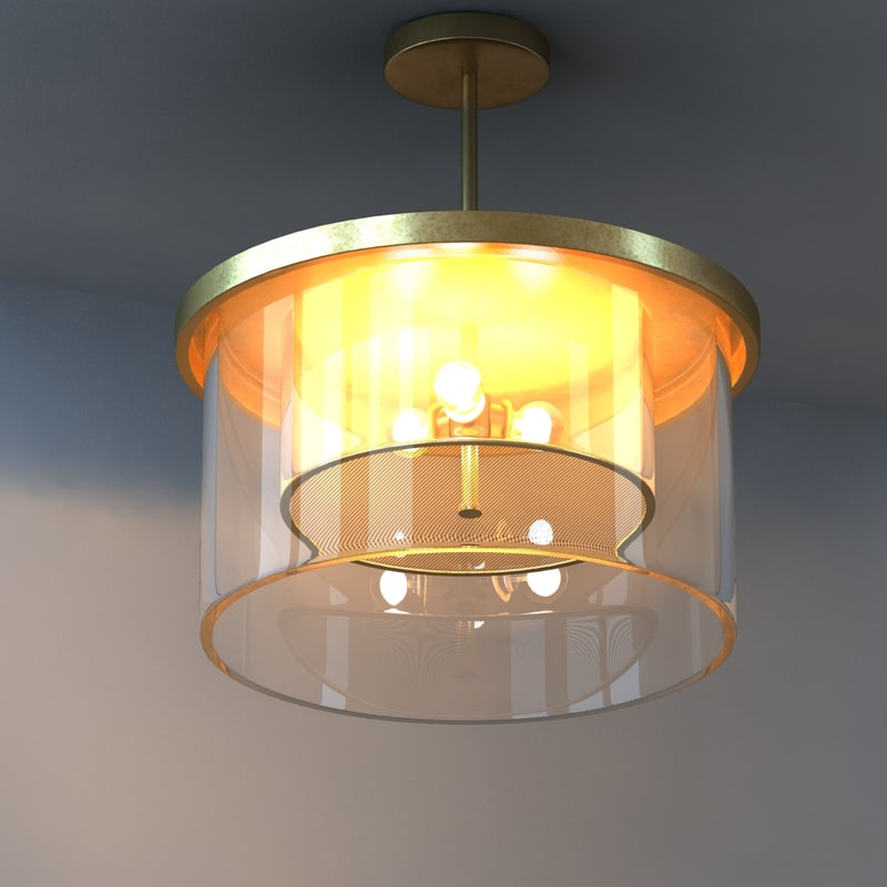 chandelier light lamson 3d model