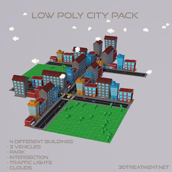 3d city pack model