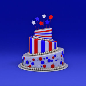 3d model party cake