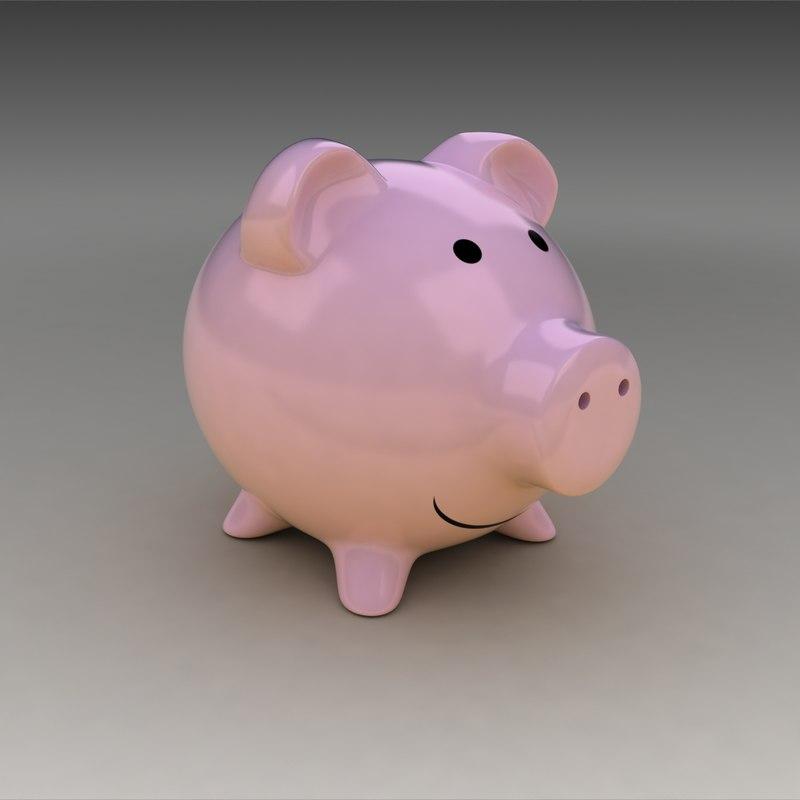 piggy bank 3d 3ds