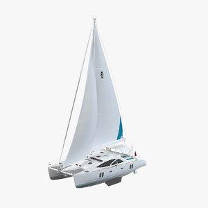 discovery 50 catamaran 3d model