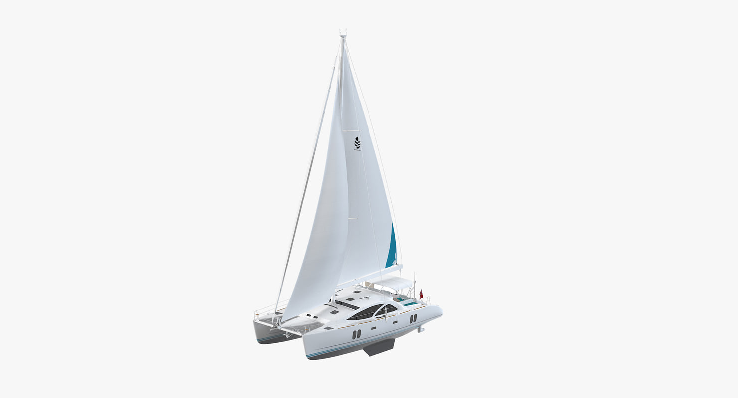 discovery 50 catamaran 3d max