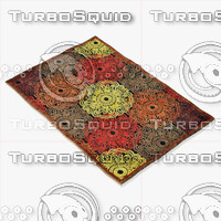 3d loloi rugs hl-07 black model