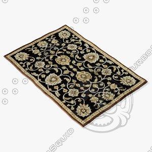 loloi rugs hl-09 black 3d 3ds