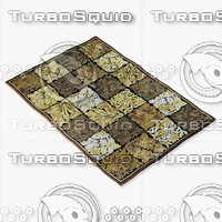 loloi rugs hl-10 black 3d model